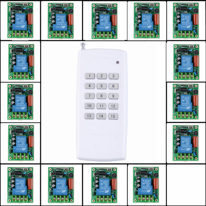 220V 15CH 30A Relay RF Wireless Light Switch Wireless Remote Control Switch Transmitter/ Radio Receive Controller supplier(China (Mainland))