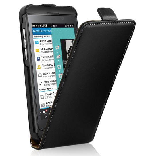 CZ For BlackBerry Z10 Flip Leather Case Magnetic Closure Pouch Wallet Cover + 2x Screen Protector(China (Mainland))