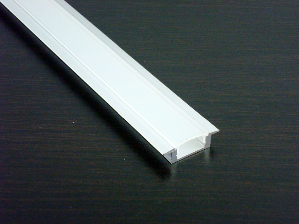 25x2m 2507B aluminum profile with FROSTED cover for width up to 12mm led strips wood wall stores shelf kitchen cabinets lights<br>