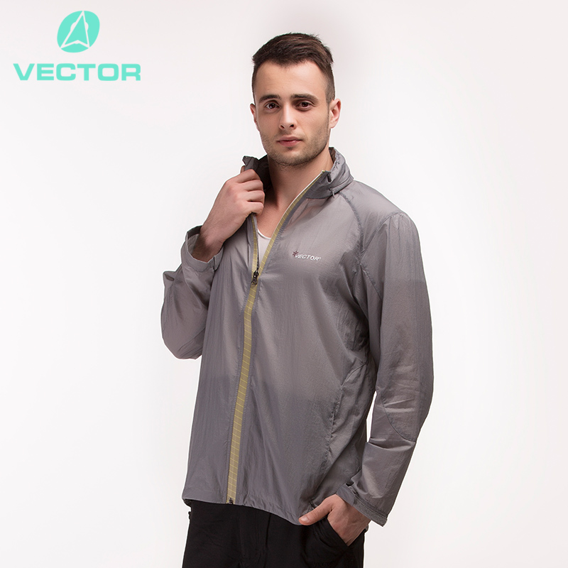 VECTOR Ultralight Outdoor Jackets Men Sun Protection Compressed Waterproof Jacket Windstopper Running Hiking Jackets 80001(China (Mainland))