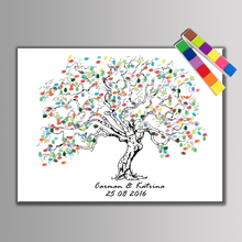 Buy 1 set Personalize Wedding Souvenirs Guest Book DIY Fingerprint Tree Signature Canvas Painting Romantic Wedding Decoration for $7.61 in AliExpress store