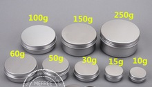 30pcs 10g 20g 30g 50g 60ml 100g Aluminum storage container Metal Can Cosmetics Jar Pill Cream Container Round Butter Boxes