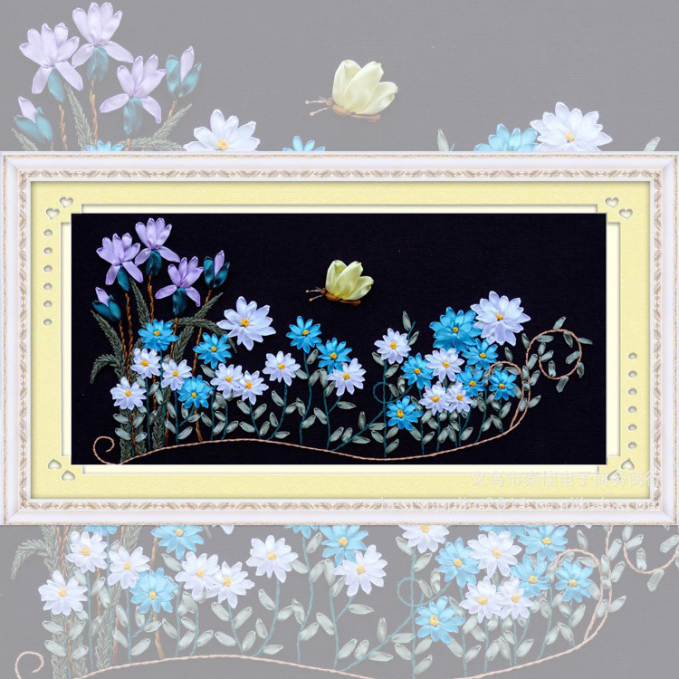 Starter kit diy handwork ribbon embroidery 3d painting for Cute home decor