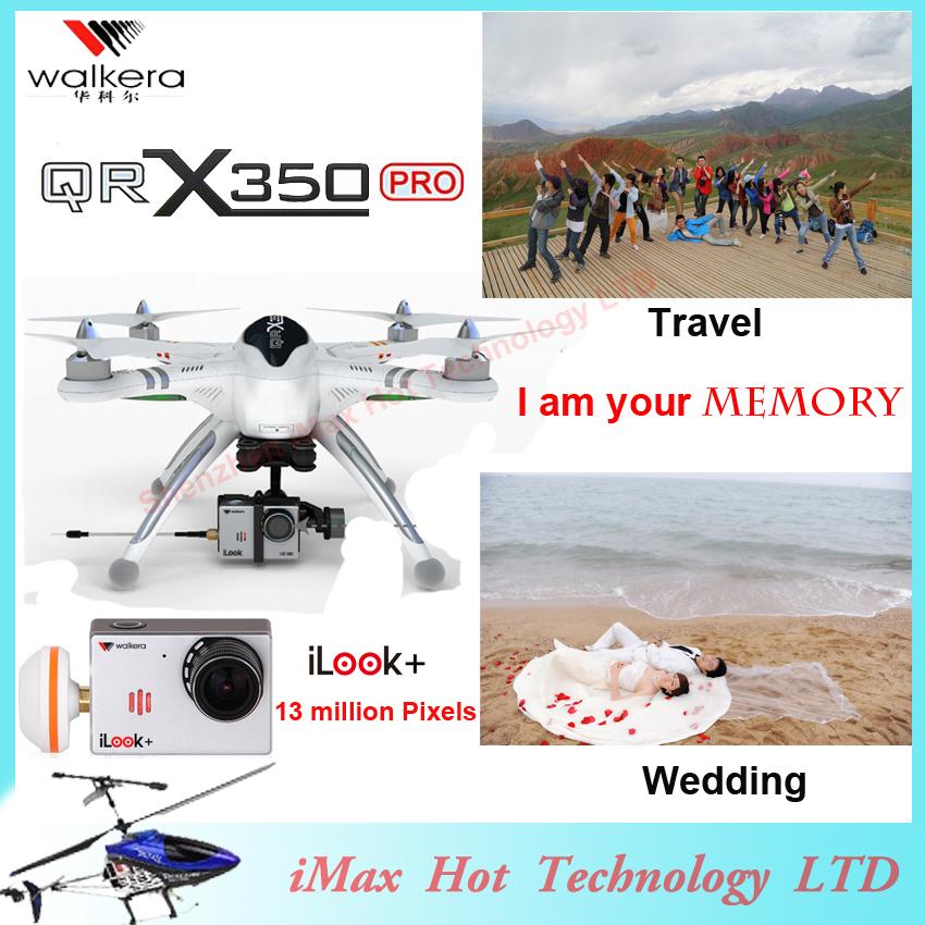 EMS Free Shipping Walkera Qr X350 Pro Drone 6ch Brushless Devo F7 F12E Transmitter RC Quadcopter iLook plus camera FPV VS H500(China (Mainland))