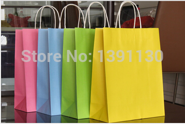 2014 top fasion rushed hand length handle bag embalagem packaging 33*26*12cm big large size promotional paper bag with handle(China (Mainland))