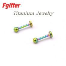 Colorful G23 Titanium Earrings High Quality Piercing Jewelry 1.2mm Hole 6/8/10/12mm Length Ear Ring Jewelry