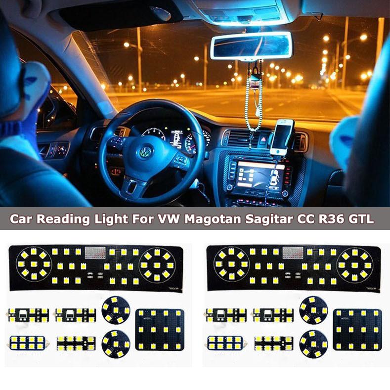 8 шт. из высокое качество автомобилей T10 из светодиодов чтение свет для VW magotan, Sagitar, Cc, R36, Gtl нет ошибки автомобиль купол света хвост камера свет