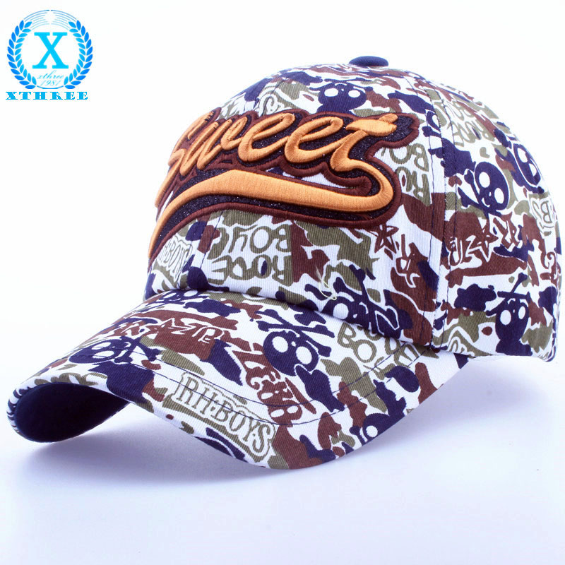 XTHREE New fashion Cotton camouflage Outdoor Sport Casual baseball cap snapback hat for men woman(China (Mainland))