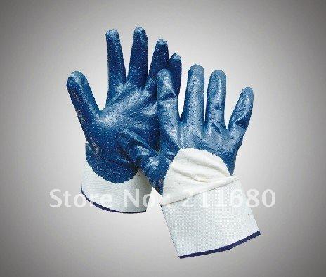 CE full nitrile coated heavy working glove Free shiping(China (Mainland))