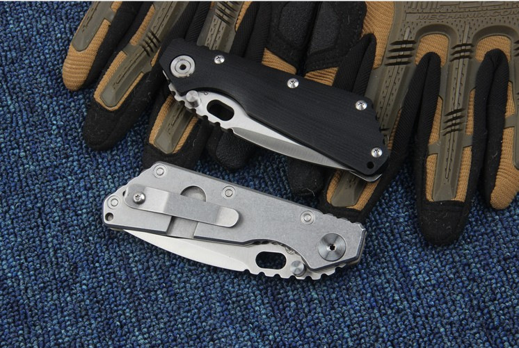 Buy Folding knife tactical knife camping utility knives EDC tool survival pocket knife 5Cr13Wov blade free shipping cheap