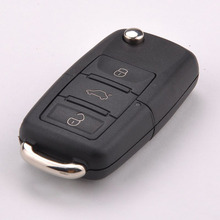 Folding Car Remote Flip Key Shell Case Fob For Volkswagen Vw Jetta Golf Passat Beetle Polo Bora 3 Buttons Free Shipping
