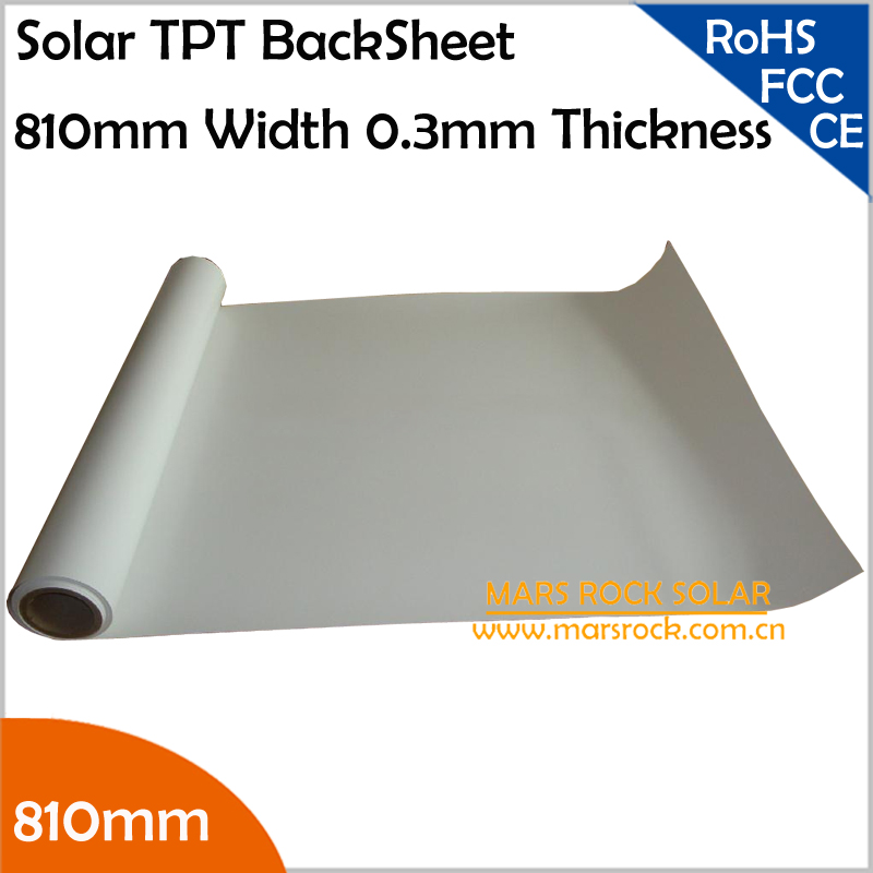 10meters/lot 810mm Solar TPT, Solar Back Sheet, Solar Encapsulation Back Sheet, 0.3mm Thickness Solar TPT Backsheet, TUV UL(China (Mainland))
