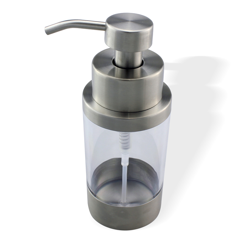 US Shipping Stainless Steel Soap Liquid Lotion Dispenser Pump Bottle Kitchen Countertop Refillable Accessory Home Decor Gadget(China (Mainland))