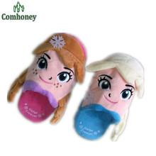 Kinder Winter Hausschuhe Schnee Königin Hausschuhe Für Mädchen Elsa Schuhe 3D Plüsch Hausschuhe Zu Hause Tragen Mutter & Kinder Familie Passenden schuhe(China (Mainland))