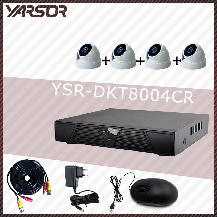 DKT8004CR DVR 4CH Dome Camera Full D1 DVR Real time Recording 4CH Standalone CCTV DVR HDMI Output P2P Cloud Mobile Phone Viewing(China (Mainland))