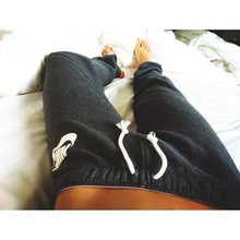 2016 Spring/Autumn New Women Sport Trousers Letters Printing Comfortable Gray Pants S/M/L(China (Mainland))