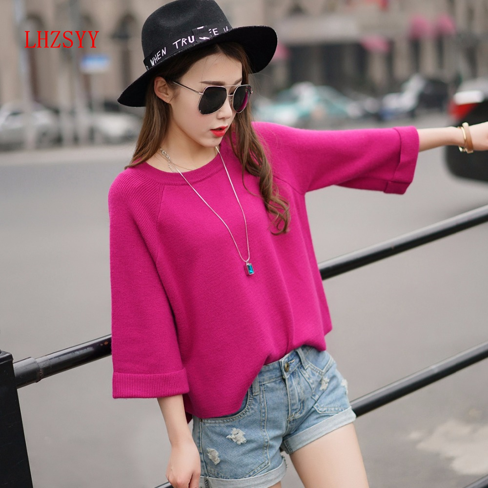 LHZSYY Spring ladies Short paragraph loose Sweater Round neck Cashmere Sweater Small section low Collar Korean Casual sweater(China (Mainland))