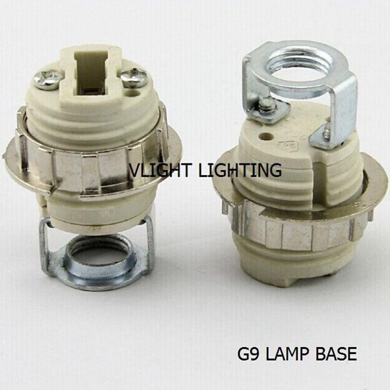 8 PCS/lot 8 times the G9 complete sets of the lamp base, G9 socket, porcelain lamp holder, ceramic G9 lamp holder, free shipping(China (Mainland))