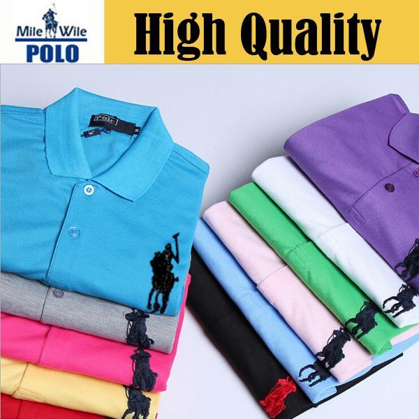 BIG horse logo 2015 new Fashion camisa camisetas polo For Mens Casual slim fit Shirts Men's brand Sport tops tees Man gf1025(China (Mainland))