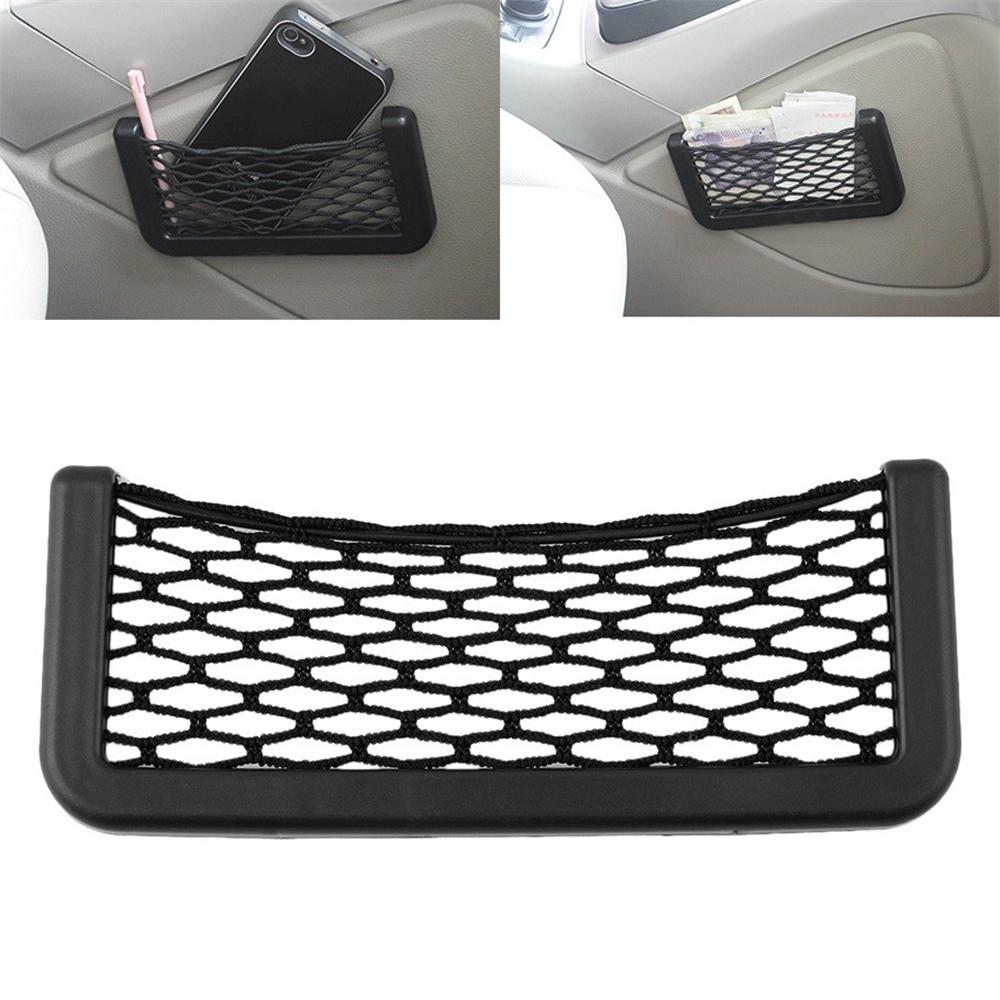 1Pcs Car Net Organizer Pockets Car Storage Net Automotive Bag Box Adhesive Visor Car Bag for Tools Mobile Phone Car Accessories(China (Mainland))