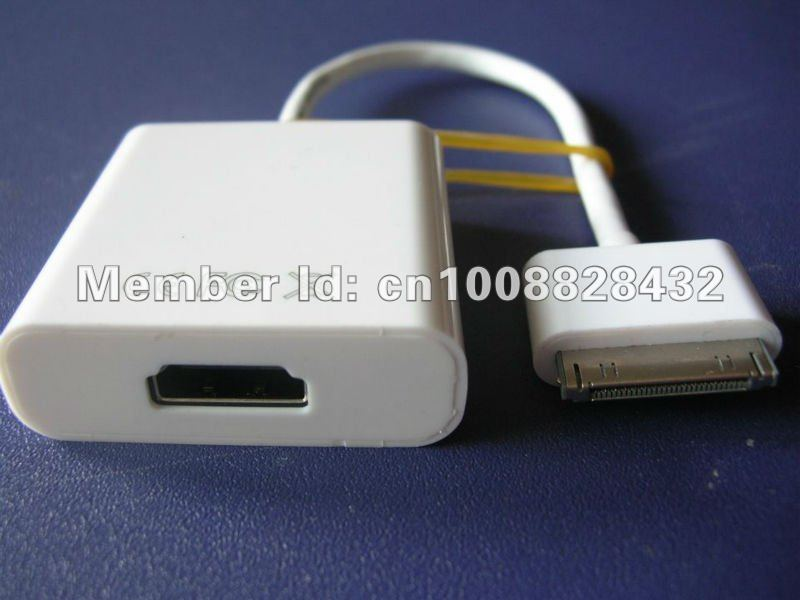 Free shipping Camera AV HDMI Adapter Connection Kit For iPad 2 iPhone resolutions up to 1080P(China (Mainland))
