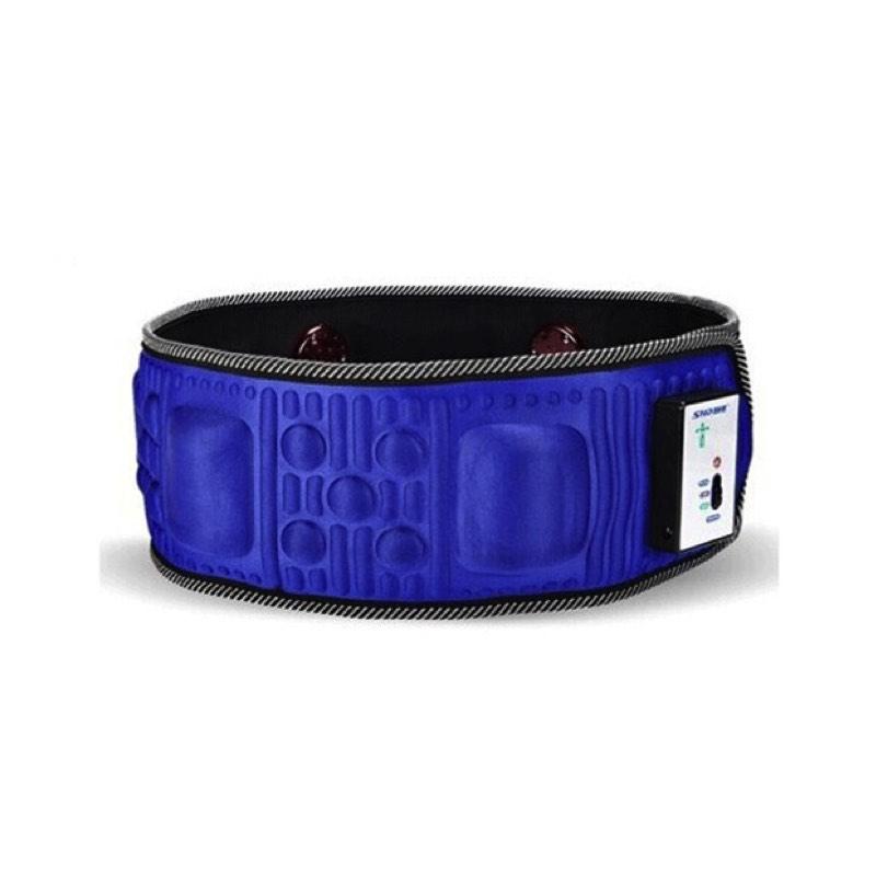 1 PC vibration heated massager slimming belt lower back pain waist massage belt(China (Mainland))