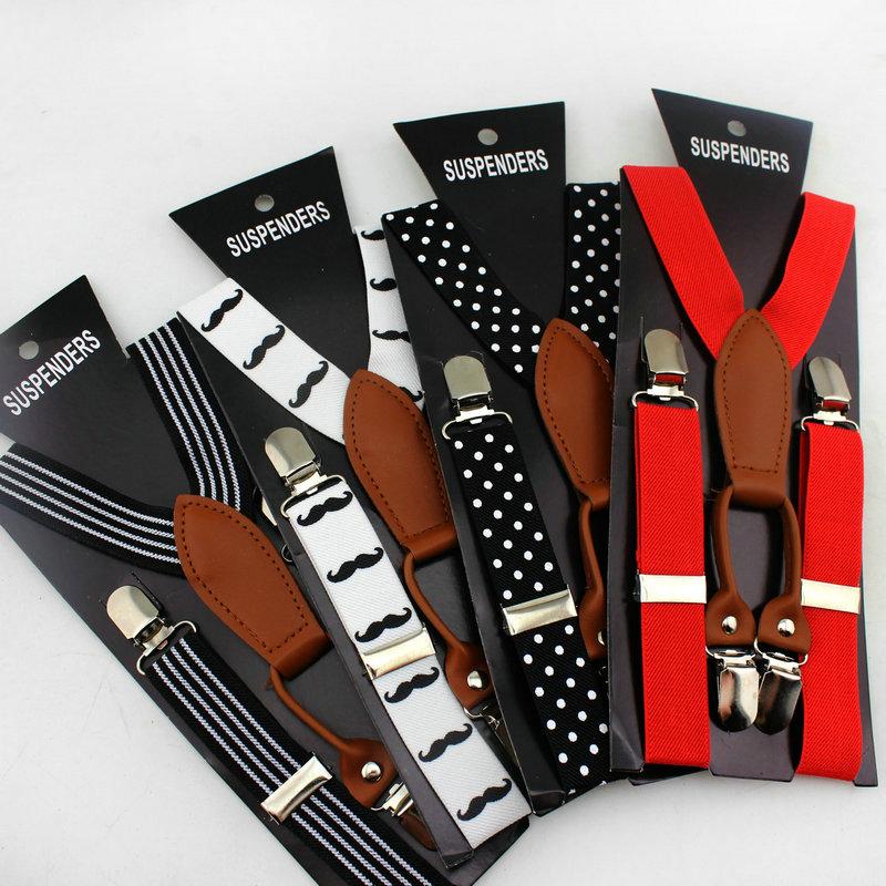 retail adult Braces suspenders men Clip-on Adjustable Y-back Suspender Elastic belts straps braces without papter card(China (Mainland))