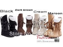 Envío Gratis Invierno de Lana Atan Para Arriba A Mujeres de Las Señoras de Chicas Botas Zapatos de la Nieve Caliente(China (Mainland))