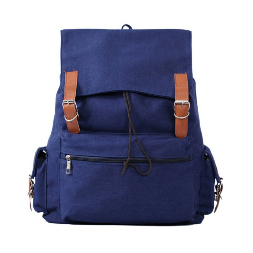 Vintage Casual Canvas Backpack Shoulder Bag Rucksack 32