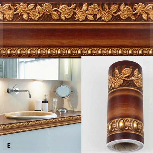 10 400 cm salle de bains papier peint tanche tour de taille stickers muraux cuisine mur de. Black Bedroom Furniture Sets. Home Design Ideas