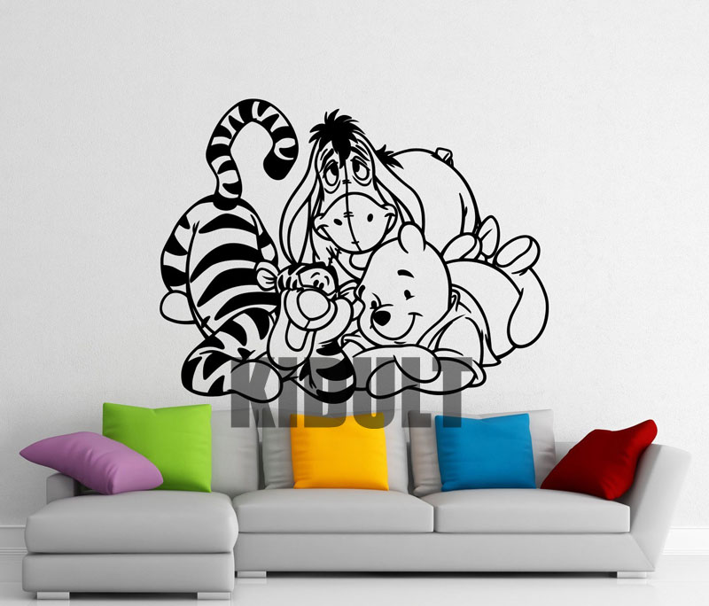 popular eeyore wall stickers buy cheap eeyore wall classic winnie the pooh baby name wall decal pooh bear
