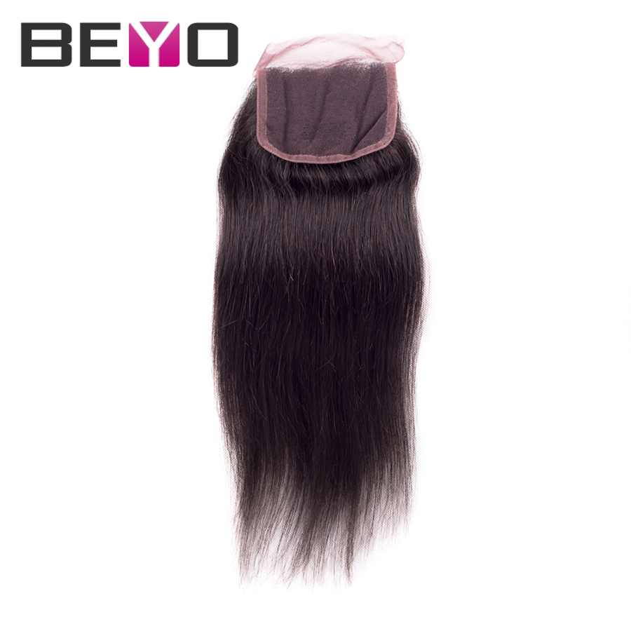 rosa hair products brazilian virgin hair with closure 1 pcs lace closure grade 7a virgin hair brazilian straight hair 10-24 inch
