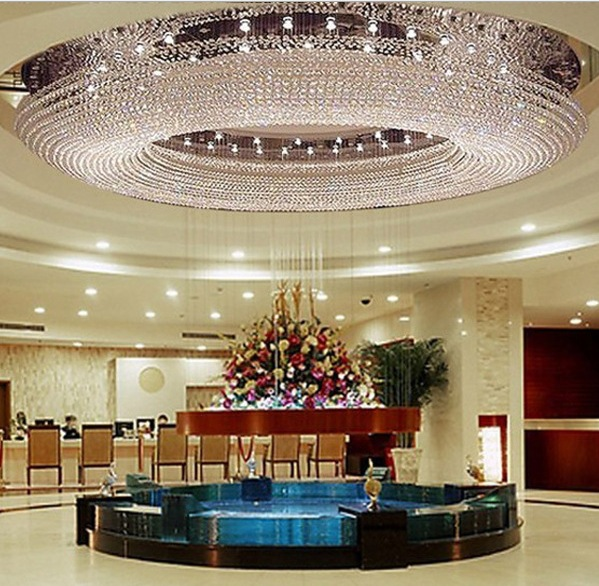 Crystal Ceiling Lamp Room Hotel