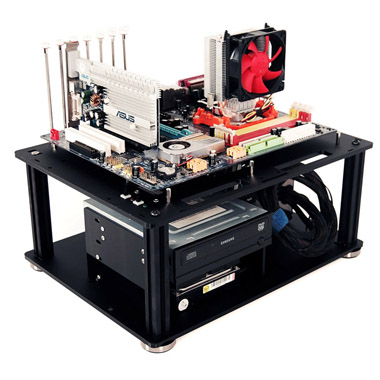 QDIY PC-D008L PMMA EATX Motherboard Acrylic Bare Computer Case(China (Mainland))
