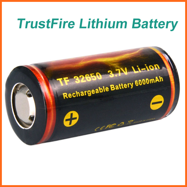 TrustFire 32650 Rechargeable Batteries Large Capacity 6000mAh 3.7V Rechargeable Lithium Battery with PCB Protected Board(China (Mainland))