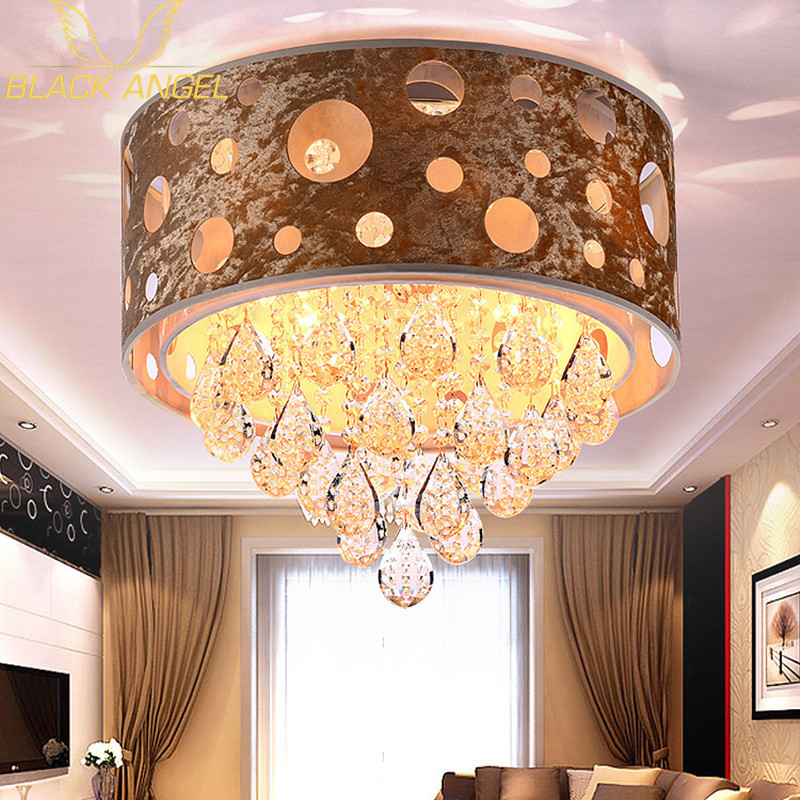 Hotel lobby crystal Ceiling Light for led modern living room ceiling lamps luminaria de teto Christmas party lighting fixture(China (Mainland))