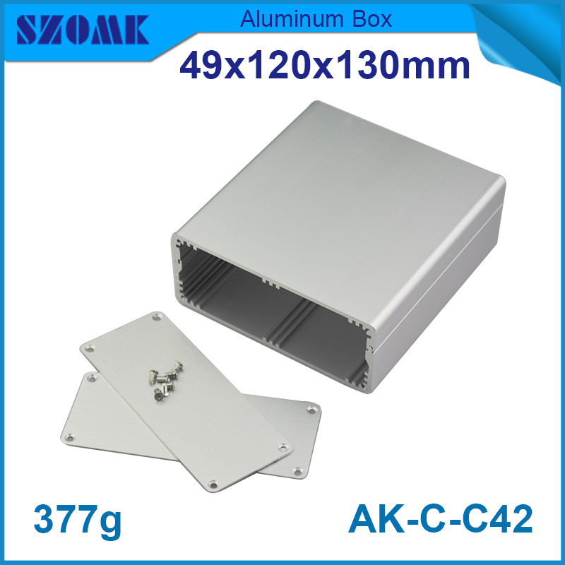 10pcs/lot silver aluminium housing enclosure switch case control box for electronic 49*120*130mm<br><br>Aliexpress