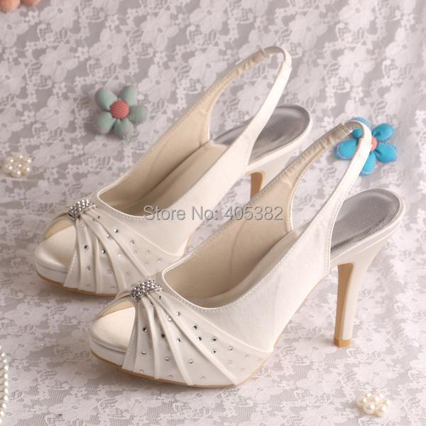 (13 Colors)Custom Handmade 2014 Sling Back Summer Sandals Satin Women Wedding Heel 10 CM Free Shipping(China (Mainland))