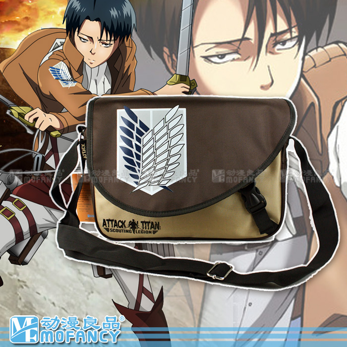 Hot-selling Anime Attack on Titan no Kyojin Free Wing Shoulder Bag Boys Schoolbags Pattern One Messenger Bags or Travel Bags(China (Mainland))