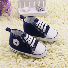 Retail Spring  Infant Toddler Newborn Baby Shoes Canvas Unisex Kids Classic Sports Sneakers Bebe Soft Bottom Anti-slip  Shoes(China (Mainland))