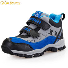 Kindstraum 2016 Winter Children Warm Snow Boots Kids Top Quality Warm Leather Shoes Active Thick Boots Boys & Girls, MJ021(China (Mainland))