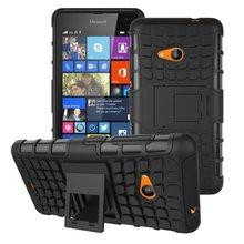 Чехол для Nokia Lumia 535, для Lumia 535 чехол гибридный тпу жёсткая ударопрочный 2 в 1 с стойка функция чехол для Microsoft Lumia 535