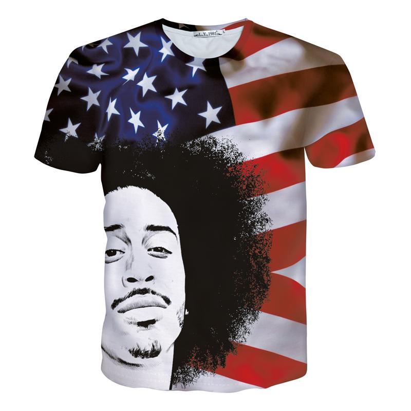newest 3d t shirt fashion bob marley character