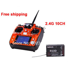 Radiolink AT10 2.4G 10ch System Radio Transmitter & Receiver Combo Remtoe Control R10D TX & RX for FPV Drone Quadcopter Parts