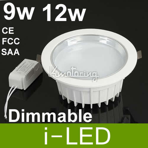 Dimmable 9W 12w Led Recessed Downlight 120 Angle Energy Saving Led Down Light 110V 240V Replace 60W Halogen Lamp 3years Warrenty(China (Mainland))