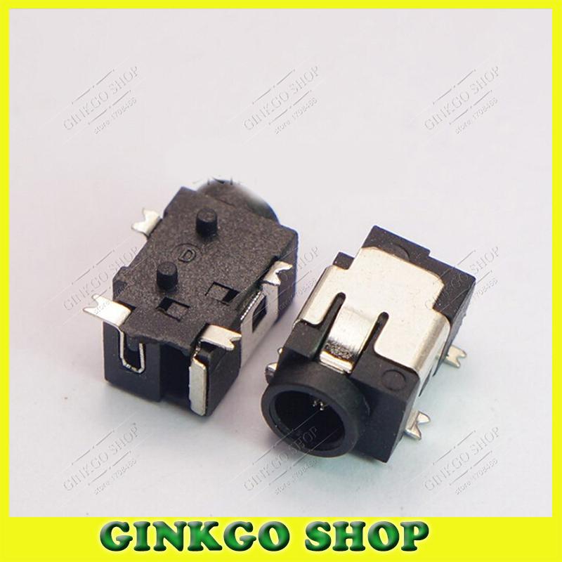 500pcs/lot DC031A 4 SMT Foot 3.5*1.3mm DC Power Jack Connector DC Charging Sockect Sliver Plating<br><br>Aliexpress