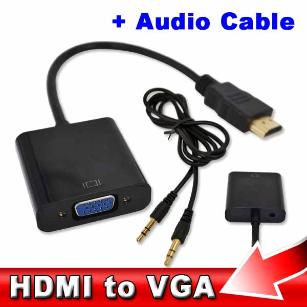 Male to Female HDMI with Audio Cable Video Converter HDMI Male to VGA RGB Female HDMI to VGA Cable 1080P for PC Laptop(China (Mainland))