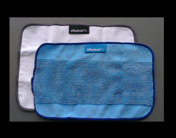(2pcs)Blue wet +White dry Microfiber Mopping Cloths for iRobot Braava 380 380t 320 Mint 4200 4205 5200 5200C Floor Mopping Robot<br><br>Aliexpress