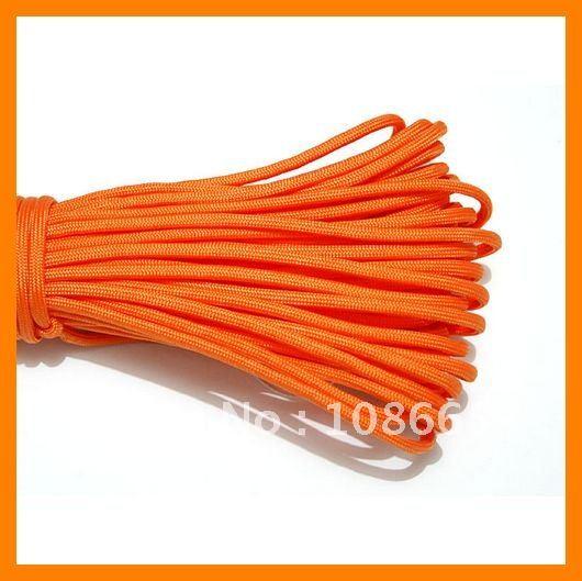 100ft Orange 550 Survival Safe cord 20 pcs/lot(China (Mainland))
