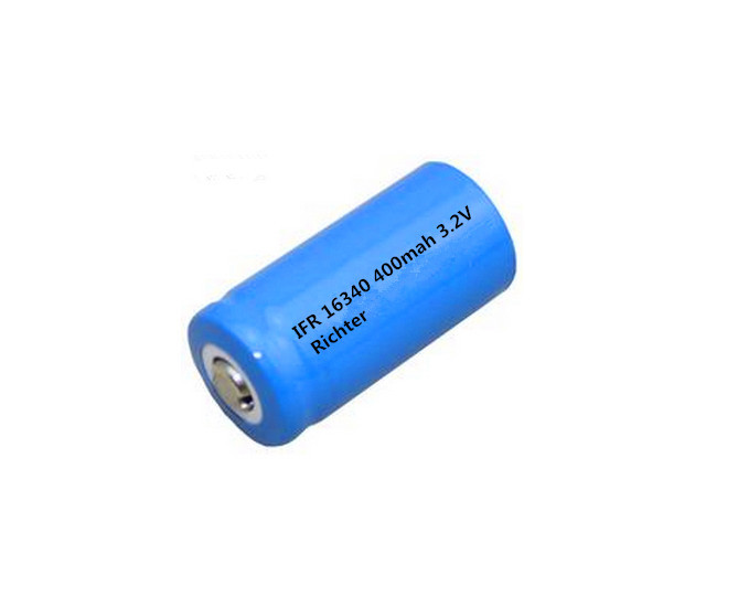 Richter Brand IFR Rechargeable Battery 16340 400mah 3 2V pointed head for Consumer Electronics